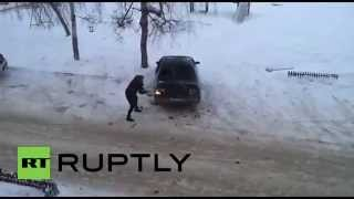 Russia: Axe-wielding woman wrecks her ex-husband