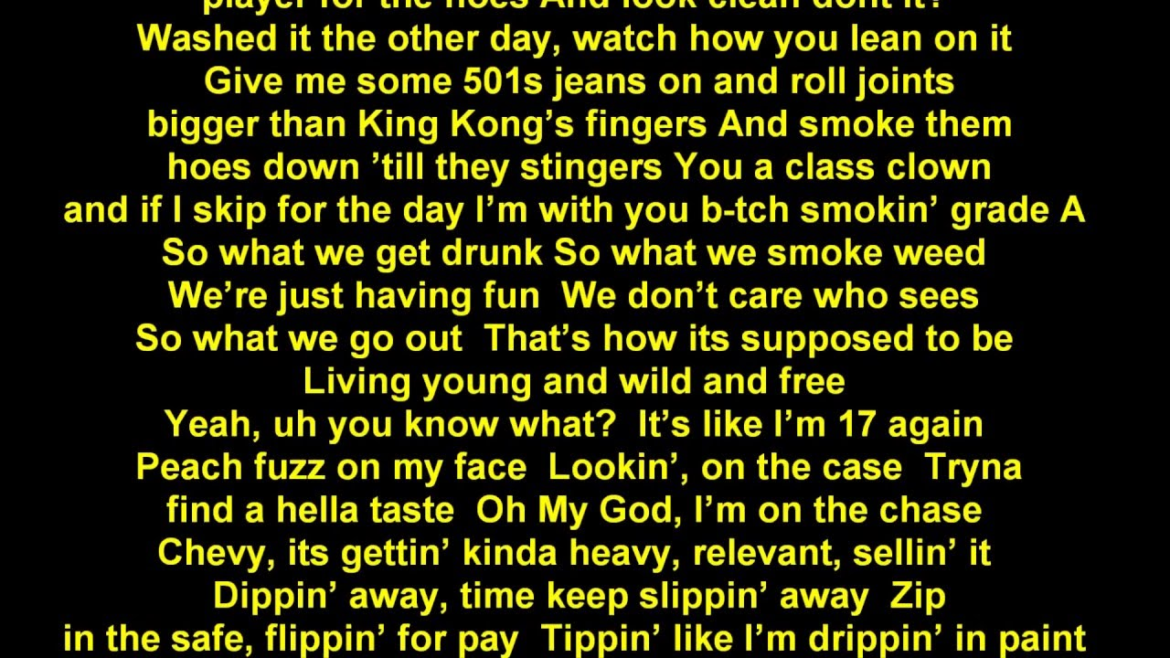 wiz khalifa wild and free lyrics