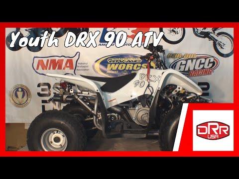 DRR USA DRX Youth ATV Four Wheeler VS Honda TRX & Yamaha Raptor