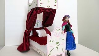 How To Make An Anna Doll Bed Tutorial/ Disney Frozen