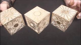 These Hellraiser Puzzle Boxes from the Hell Raiser, Hell-Raiser, Hellbound movies with Doug Bradley playing Pinhead are