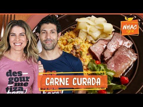 Carne de sol e cuscuz de milho com feijão verde  Rita Lobo  Cozinha Prática