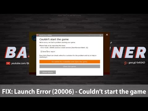 How To Fix: Couldn't Start The Game |  Fortnite Error Code: 20006