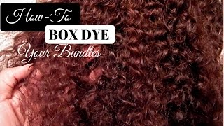 How To Dye Bundles With Box Dye (NO BLEACH) | Light Brown