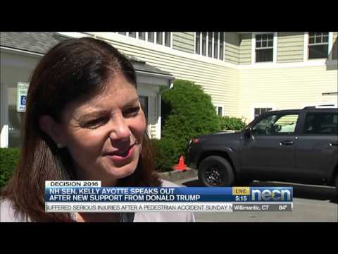 Kelly Ayotte reacts to Trump's tepid endorsement