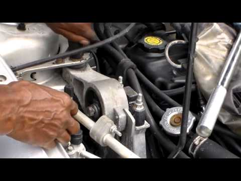 How to install the upper right motor mount, Dodge and