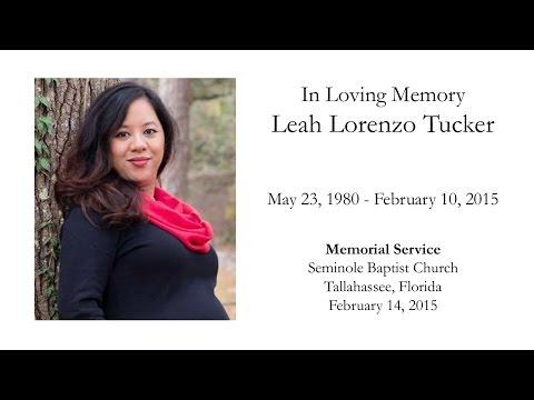 Leah's Memorial Service
