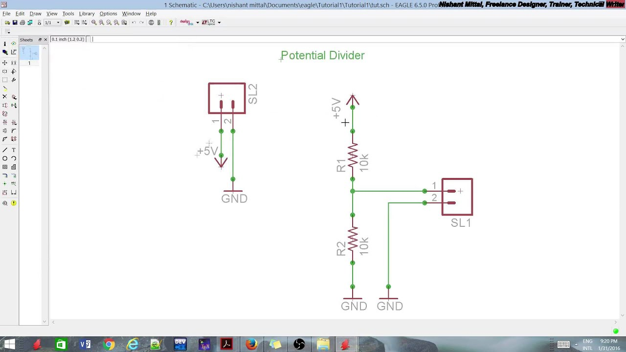 Eagle PCB Design Tutorial - Creating Library part 2