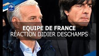 Equipe de France, Réaction Deschamps après Allemagne-France (2-2)  I FFF 2017