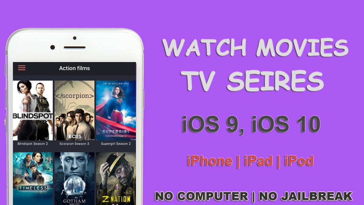 watch movies and tv series free on iphone, ipad, ipod on ios 8, ios