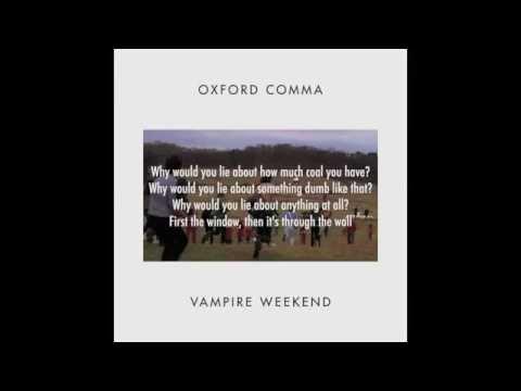 Vampire Weekend - Oxford Comma (Instrumental) with Lyrics
