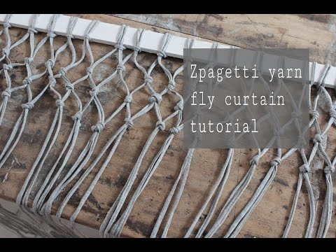 DIY fly curtain with Zpagetti yarn
