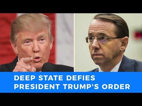 Deep State insurrection, defying Trump