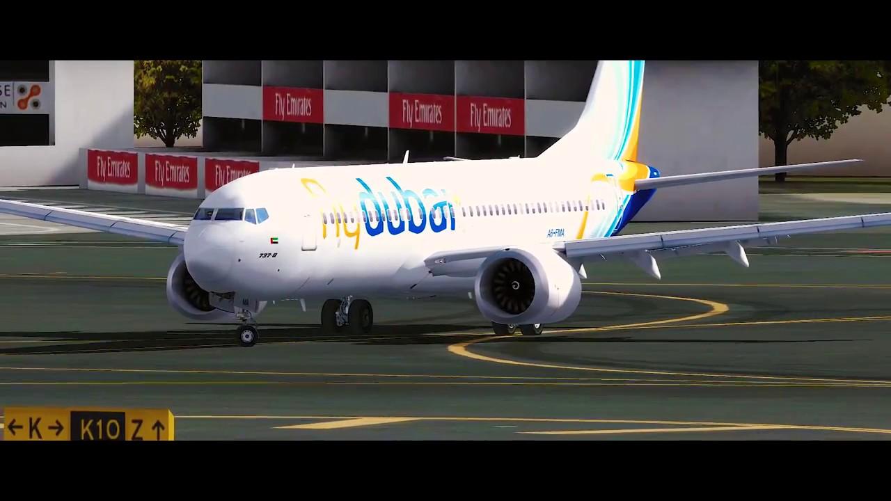 [P3Dv4 1] 737MAX FlyDubai Take Off from Dubai International Airport