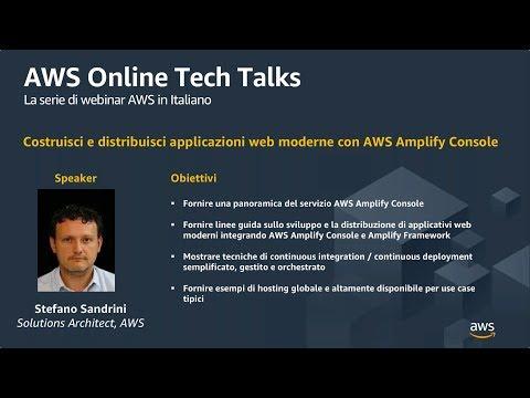 Costruisci e distribuisci applicazioni web moderne con AWS Amplify Console