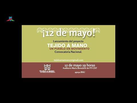 PIT-CNT Lanzamiento TEJIDO A MANO Un pueblo en movimiento 12-5-2017