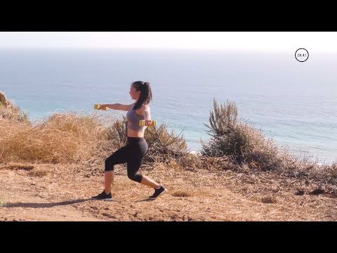 20-Minute Cardio HIIT and Butt and Thighs Workout: HIIT Workout w/ Weights + Strength Exercises