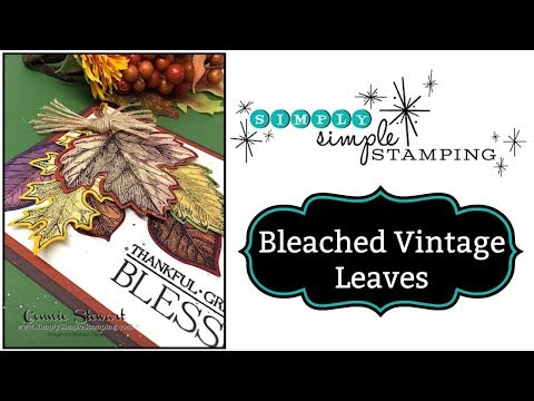 Simply Simple BLEACHED FALL LEAVES Card by Connie Stewart