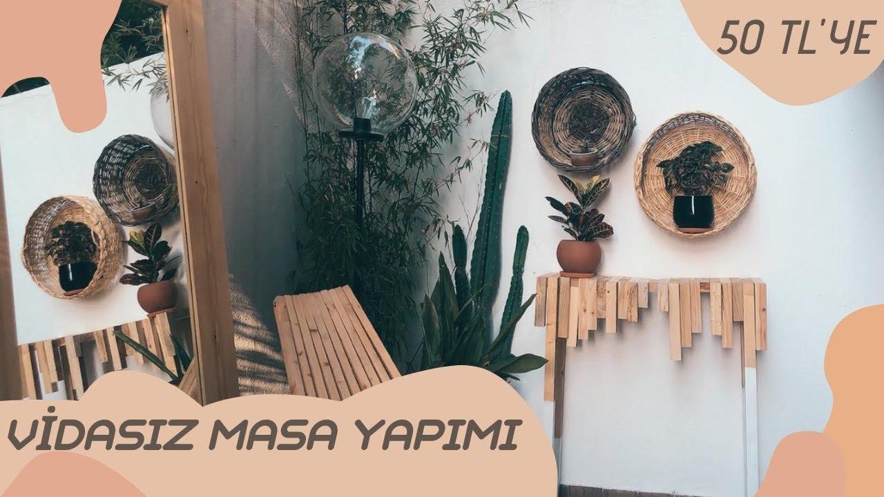 50 TL'ye VİDASIZ AHŞAP MASA YAPIMI | DIY | Kendin yap  | Tuğçe sarıcaoğlu