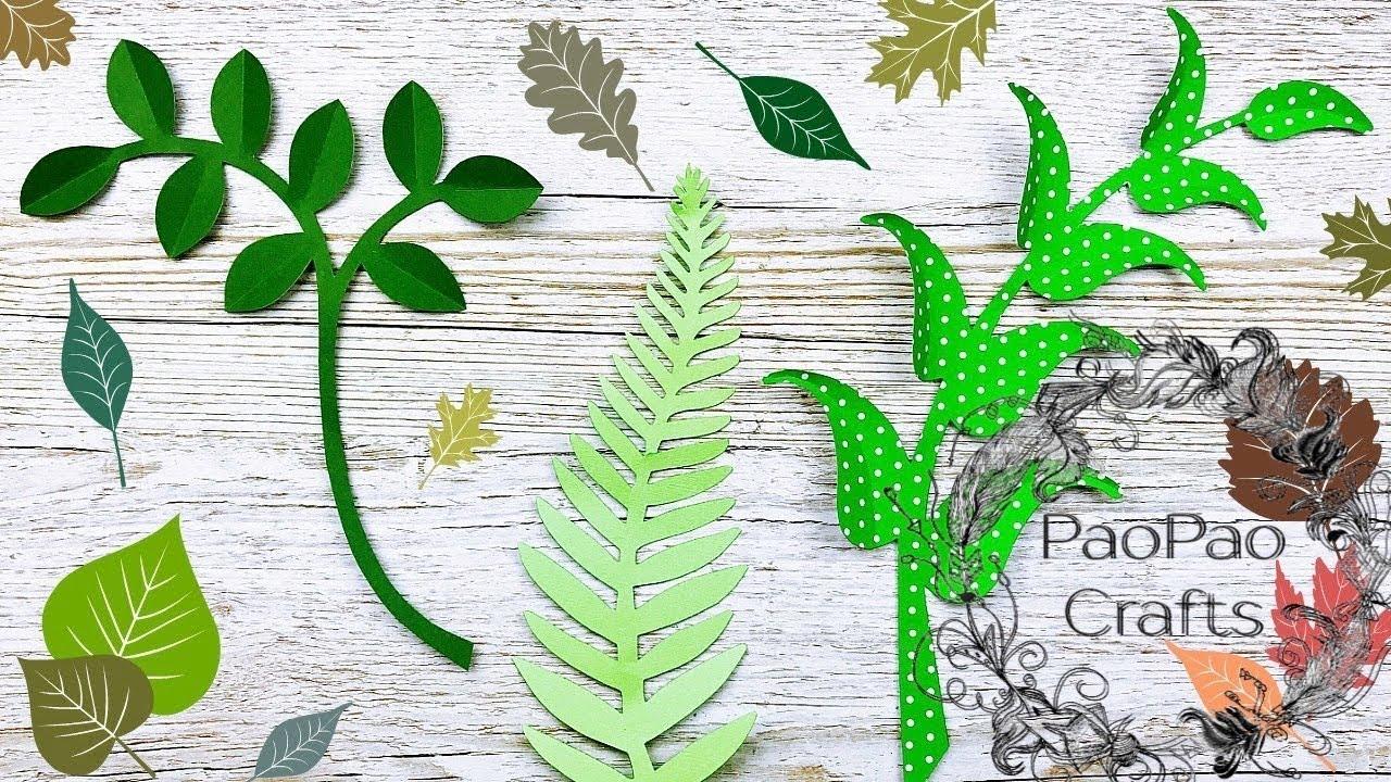 Como Hacer Hojas De Papel Flores Gigantes De Papel Moldes Gratis How To Make Paper Leaves