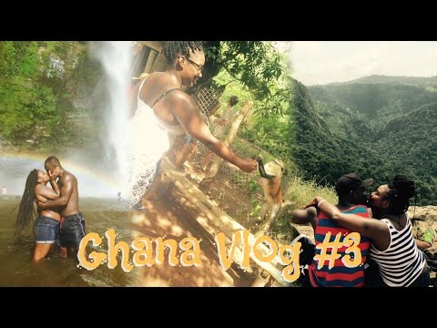 GHANA VLOG #3 | MONKEYS, A WATERFALL & CLIMBING 2,905 FEET IN THE AIR! (Study Abroad)