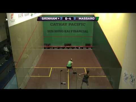 Hong Kong Open 2014 - WSA QF Roundup  Pt2 (Grinham v Massaro)