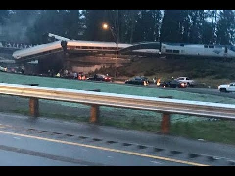 🚨 Amtrak Train Derails onto Highway in Washington - LIVE BREAKING NEWS COVERAGE