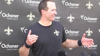 Saints QB Drew Brees on evolution of work habits: 'I don't remember having much of a plan'