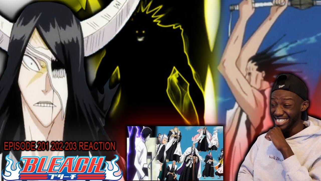 Download KENPACHI GOES ALL OUT | Bleach Episode 201 202 203 Reaction | ULQUIORRA'S BACK ! AIZEN'S PLAN BEGINS