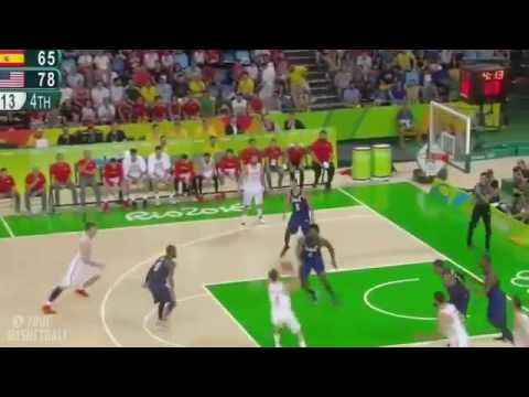 USA vs Spain — Last Quarter 2016 Rio Olympics Basketball SEMIFINAL