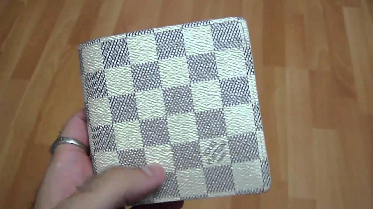 Louis Vuitton LV Marco Damier Azur Wallet - YouTube dd5fb0f6f9aa7
