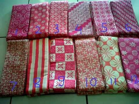 Kain Batik Murah Warna Pink  YouTube