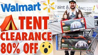 ⛺️ CHEAP TENTS!!! 80% oḟf Tent Clearance at Walmart - $240 tents for $49!