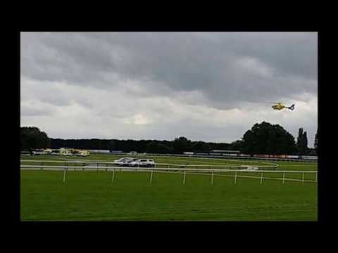 """Horse handler at Haydock Park dies after he was """"run over"""" in """"freak"""" accident as..."""