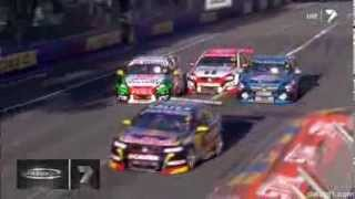 2014 Clipsal 500 Race 2 Courtney Crashes into Holdsworth, Pye