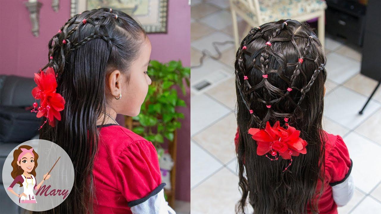 trenza entrelasada con ligas peinado para nias facil y rapido youtube