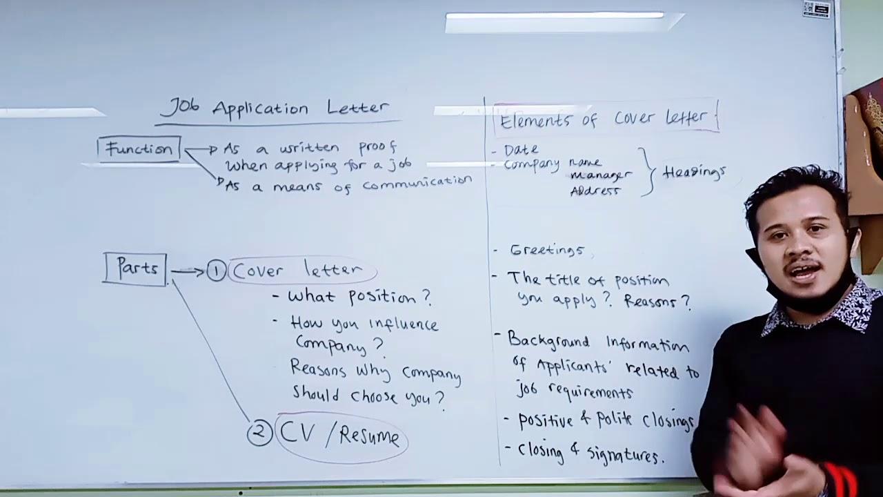 Job Application Letter Part 1 Materi English Kelas 12 Sma Youtube