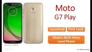 Motorola Moto G7 Play - Launched and First Look/Impression (#MotoG7Play #Moto #G7 #Play)
