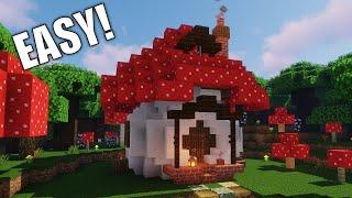 How to Build a Mushroom Starter House Fairy House #1 Red Mushroom House YouTube