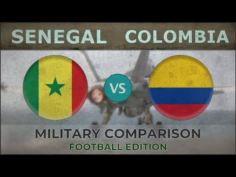 SENEGAL vs COLOMBIA - Military Comparison - 2018 [FOOTBALL EDITION]
