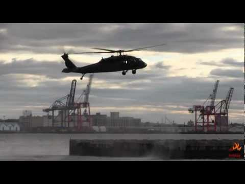 2 Black Hawks US Air Force at Downtown Manhattan Heliport