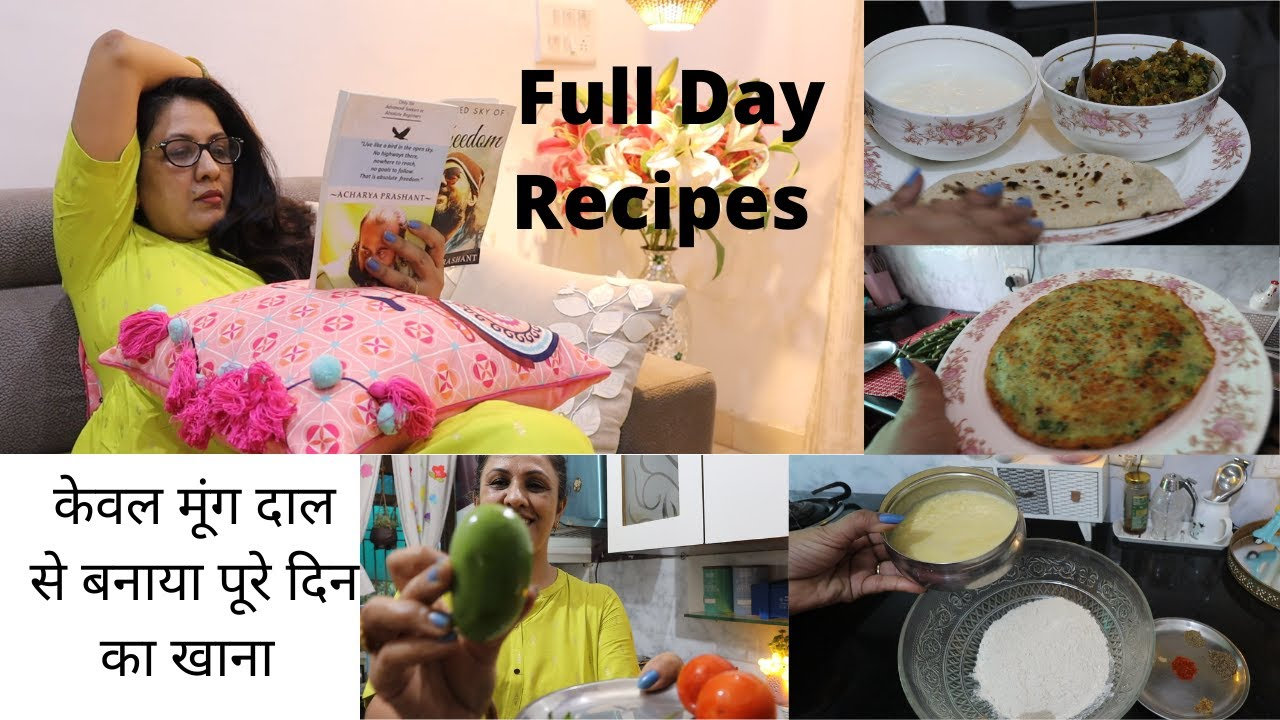 Full Day Meals with MOONG DAAL Recipes|| Veg Omelette ,Special Bhindi & Famous & Very Easy Kachauri