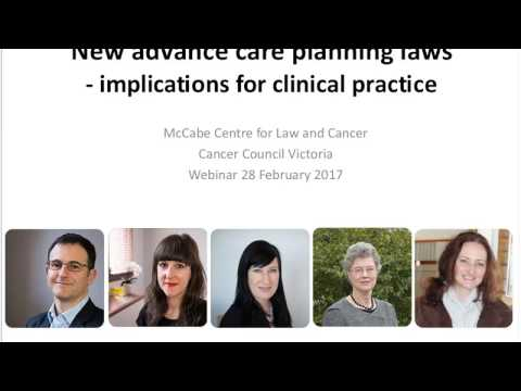 New advance care planning laws – implications for clinical practice