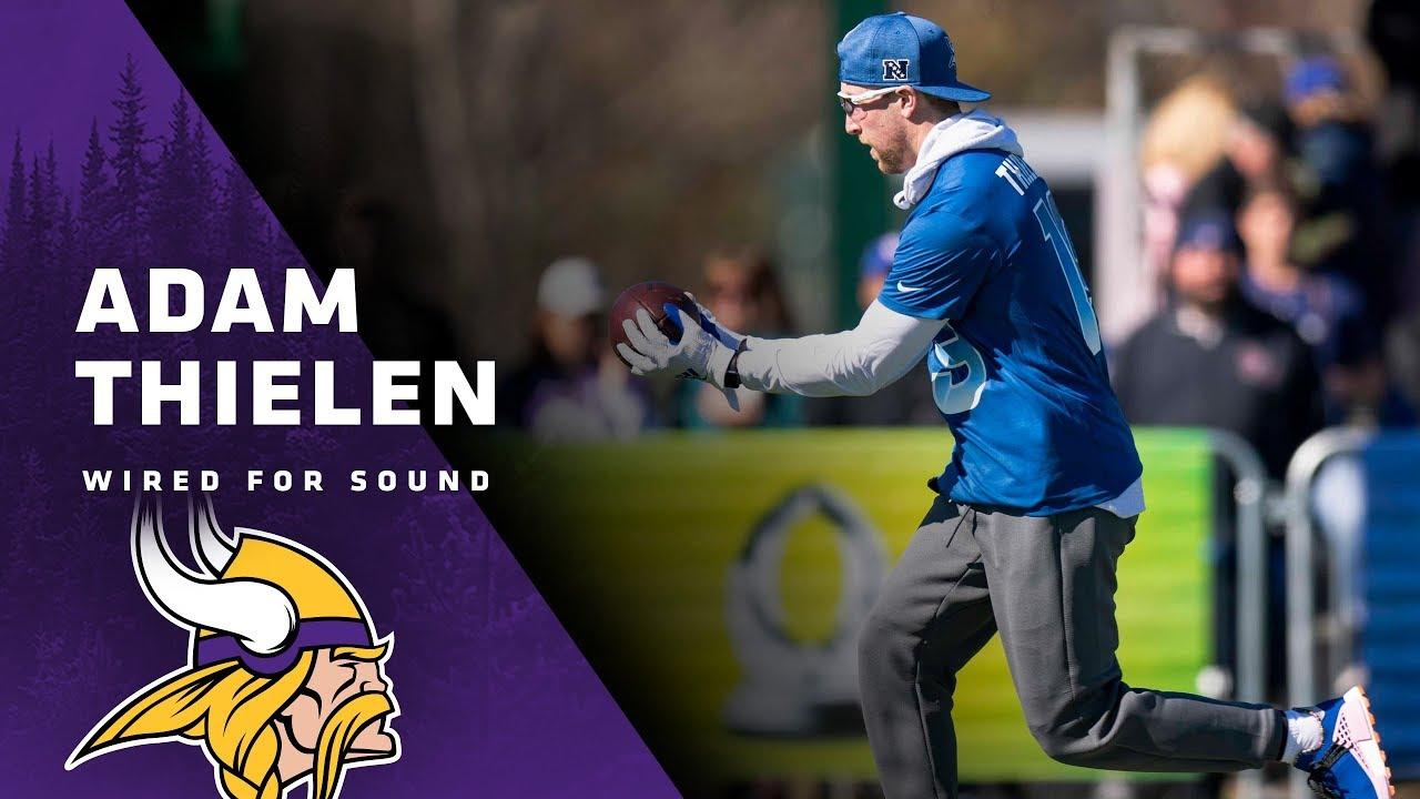 Wired For Sound  Adam Thielen at Pro Bowl Practice  03f9a626d