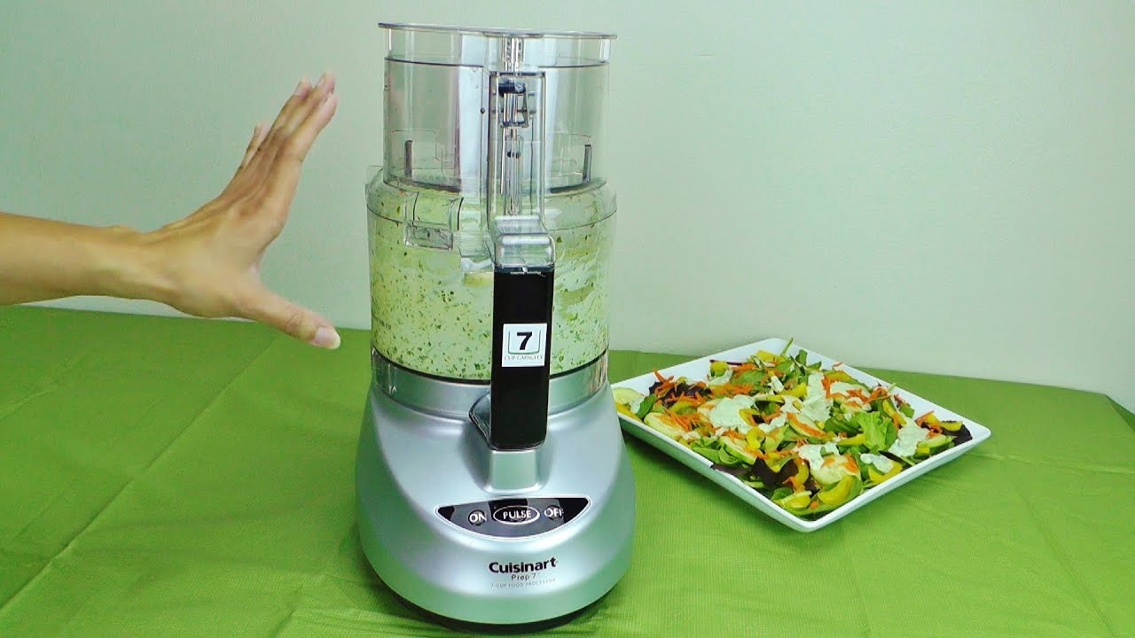 Cuisinart Prep 7 7 Cup Food Processor   DLC 2007N Review And Salad Recipe    YouTube
