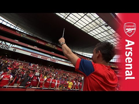 Cazorla, Giroud and Koscielny conduct their own chants