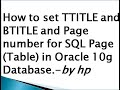 How to set TTITLE and BTITLE and Page number for SQL Page (Table) in Oracle 10g Database.