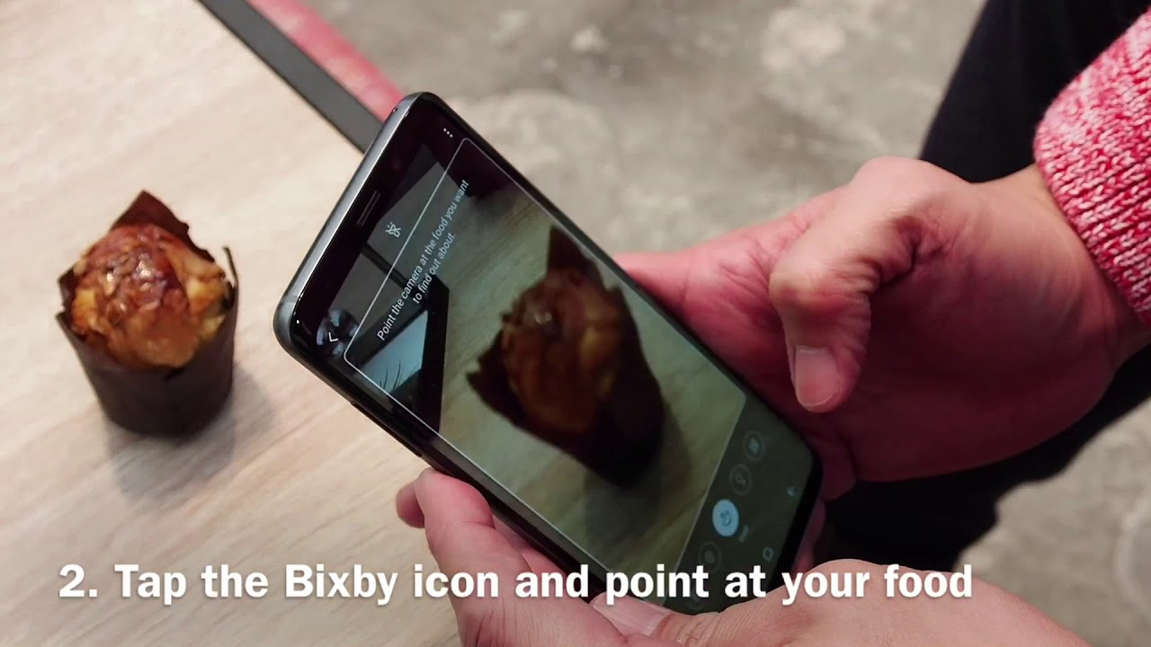 Samsung Galaxy S9 Bixby Vision Food Hands-on