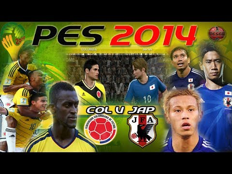 PES 2014: World Cup  Colombia V Japan [Online Match]