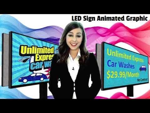 LED Digital sign P8, P10, or P16 full color for Outdoor - Programmable Message Center